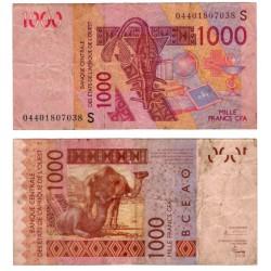 (915Sb) Estados África Oeste. 2004. 1000 Francs (BC)