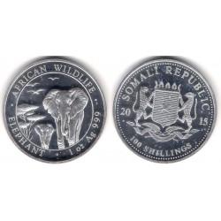 Somalia. 2015. 100 Shillings (SC) (Plata)