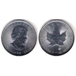 Canadá. 2014. 5 Dollars (SC) (Plata)