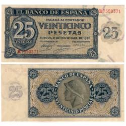 Estado Español. 1936. 25 Pesetas (EBC) Serie R
