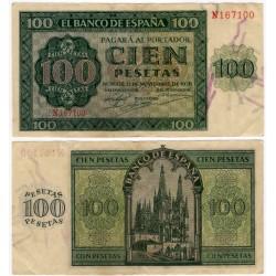 Estado Español. 1936. 100 Pesetas (MBC+) Serie N