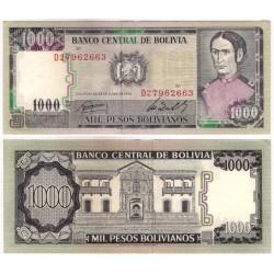 (167a) Bolivia. 1982. 1000 Pesos (MBC-)
