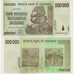 (76a) Zimbabue. 2008. 500000 Dollars (SC)