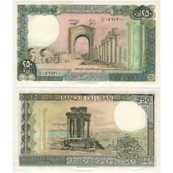 (67e) Líbano. 1988. 250 Dinars (SC-)