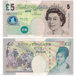 (391b) Gran Bretaña. 2002. 5 Pounds (SC)
