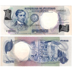 (142a) Filipinas. 1969. 1 Piso (EBC)