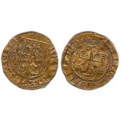 Juana y Carlos I. Sin Fecha. 1 Escudo (MBC-) (Oro) Ceca de Sevilla y Estrella