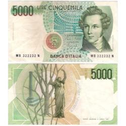 (111b) Italia. 1985. 5000 Lira (MBC+)