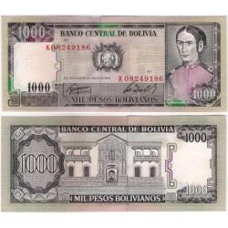 (167a) Bolivia. 1982. 1000 Pesos Bolivianos (SC)
