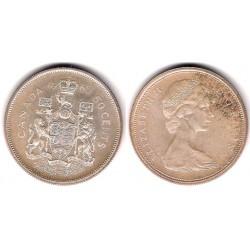 (63) Canadá. 1965. 50 Cents (EBC+) (Plata)
