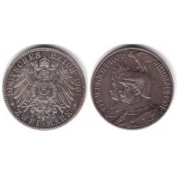 (525) Estados Alemanes. Prusia. 1901(A). 2 Mark (EBC) (Plata)