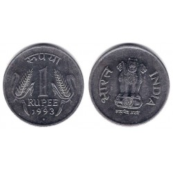 (92.1) India. 1993. 1 Rupee (MBC)