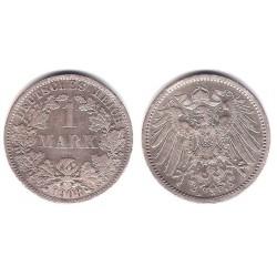 (14) Imperio Alemán. 1908(A). 1 Mark (MBC) (Plata)