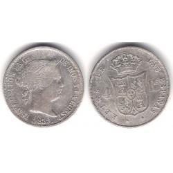 Isabel II. 1859. 4 Reales (MBC-) (Plata) Ceca de Barcelona