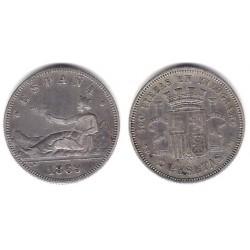 Gobierno Provisional. 1869*(18-69). 2 Pesetas (BC) (Plata) Ceca de Madrid SN-M