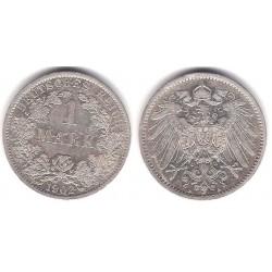 (14) Imperio Alemán. 1902(A). 1 Mark (MBC+) (Plata)