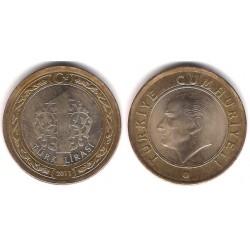 (1244) Turquía. 2011. 1 Lira (EBC)