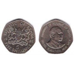 (23) Kenia. 1985. 5 Shillings (MBC)