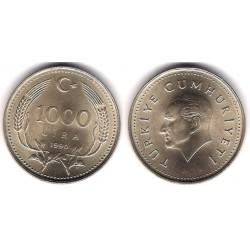 (997) Turquía. 1990. 1000 Lira (EBC)