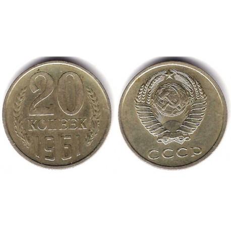 (Y132) Unión Soviética. 1961. 20 Kopeks (MBC)