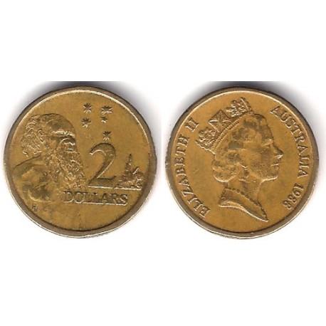 (101) Australia. 1988. 2 Dollars (MBC-)