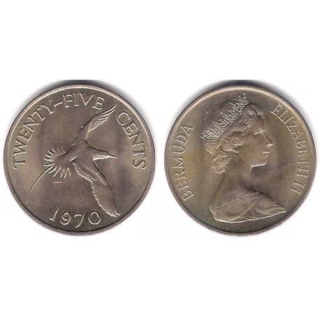 (18) Bermudas. 1970. 25 Cents (SC)
