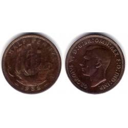 (844) Gran Bretaña. 1938. Half Penny (BC)