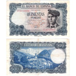 Estado Español. 1971. 500 Pesetas (MBC) Serie 1C