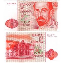 España. 1980. 2000 Pesetas (EBC+) Serie A