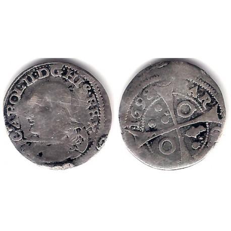 Carlos II. 1698. 1 Real (BC) (Plata) Ceca de Barcelona