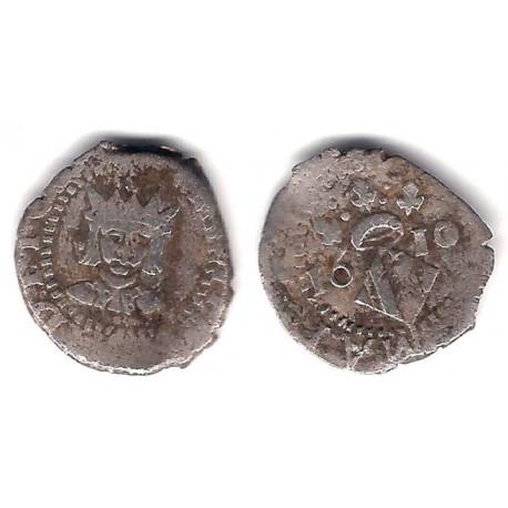 Felipe III. 1610. Diechiocheno (MBC-) (Plata) Ceca de Valencia
