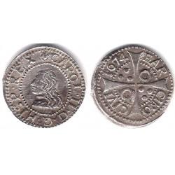 Carlos II. 1674. 1 Real (EBC) (Plata) Ceca de Barcelona