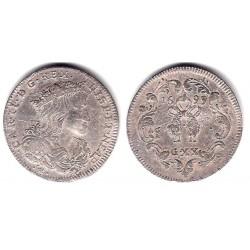 Carlos II. 1699. 1 Tari (20 Grana) (MBC/MBC-) (Plata) Ceca de Nápoles