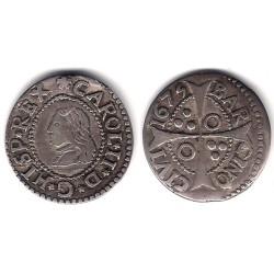 Carlos II. 1675. 1 Real (MBC) (Plata) Ceca de Barcelona