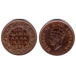 (530) India Británica. 1938. Quarter Anna (MBC)