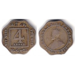(519) India Británica. 1920. 4 Annas (MBC)