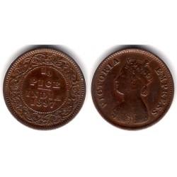 (484) India Británica. 1897. ½ Pice (MBC)