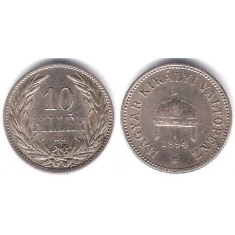 (482) Hungria. 1894. 10 Filler (MBC+)