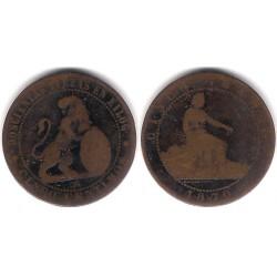 Gobierno Provisional. 1870. 5 Céntimos (RC) Ceca de Barcelona OM