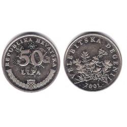 (8) Croacia. 2001. 50 Lipa (EBC)