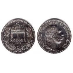 (492) Hungria. 1915. 1 Korona (EBC+) (Plata)