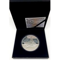 España. 2007. 50 Euro (Proof) (Plata) V Aniversario del Euro. Rapto de Europa