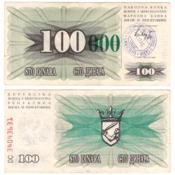 (56g) Bosnia-Hercegovina. 1993. 100000 Dinara (MBC) Sarajevo. Leve Rotura