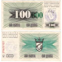 (56g) Bosnia-Hercegovina. 1993. 100000 Dinara (MBC) Sarajevo