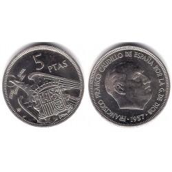 Estado Español. 1957*(74). 5 Pesetas (SC-)