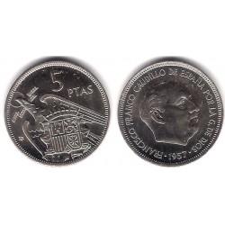 Estado Español. 1957*(72). 5 Pesetas (SC)