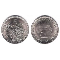 Estado Español. 1957*(71). 5 Pesetas (SC)