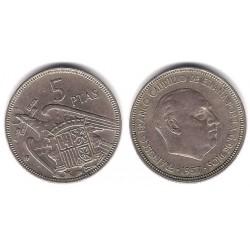 Estado Español. 1957*(61). 5 Pesetas (BC)