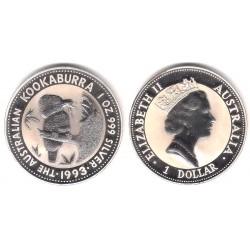 Australia. 1993. 1 Dollar (SC) (Plata)
