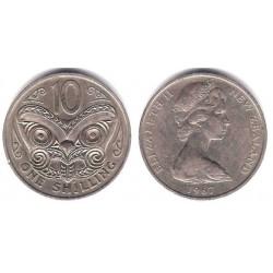 (34.1) Nueva Zelanda. 1967. 10 Cents (MBC)
